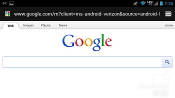The web browser on the Motorola DROID RAZR MAXX - Samsung Galaxy S III vs Motorola DROID RAZR MAXX
