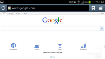 The web browser on the Samsung Galaxy S III - Samsung Galaxy S III vs Motorola DROID RAZR MAXX