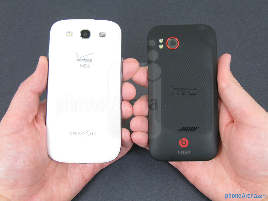 The Samsung Galaxy S III (left) and the HTC Rezound (right) - Samsung Galaxy S III vs HTC Rezound