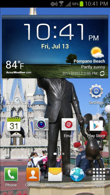 The Samsung Galaxy S III comes with TouchWiz Nature UX interface layered over Android 4.0.4 Ice Cream Sandwich - Samsung Galaxy S III vs HTC Rezound