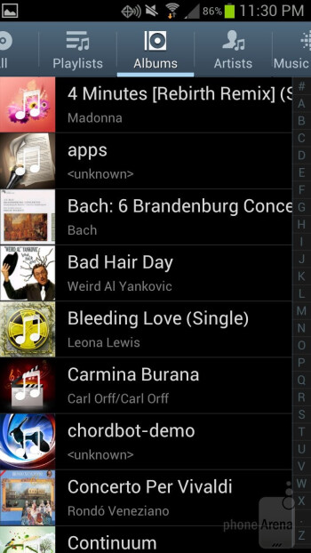 Samsung Galaxy S III - Music players - Samsung Galaxy S III vs HTC Rezound