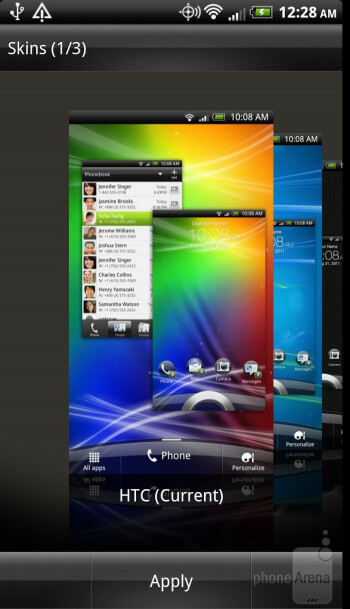 The HTC Rezound is using HTC's Sense UI over Android 2.3.4 Gingerbread - Samsung Galaxy S III vs HTC Rezound