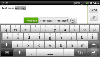 HTC Rezound - On-screen QWERTY keyboards - Samsung Galaxy S III vs HTC Rezound
