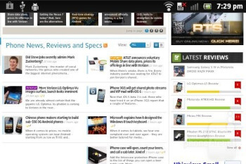 Web browser - Sony Xperia go Review