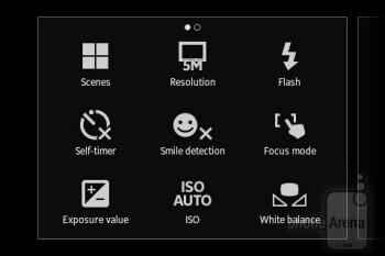 Camera interface - Sony Xperia go Review