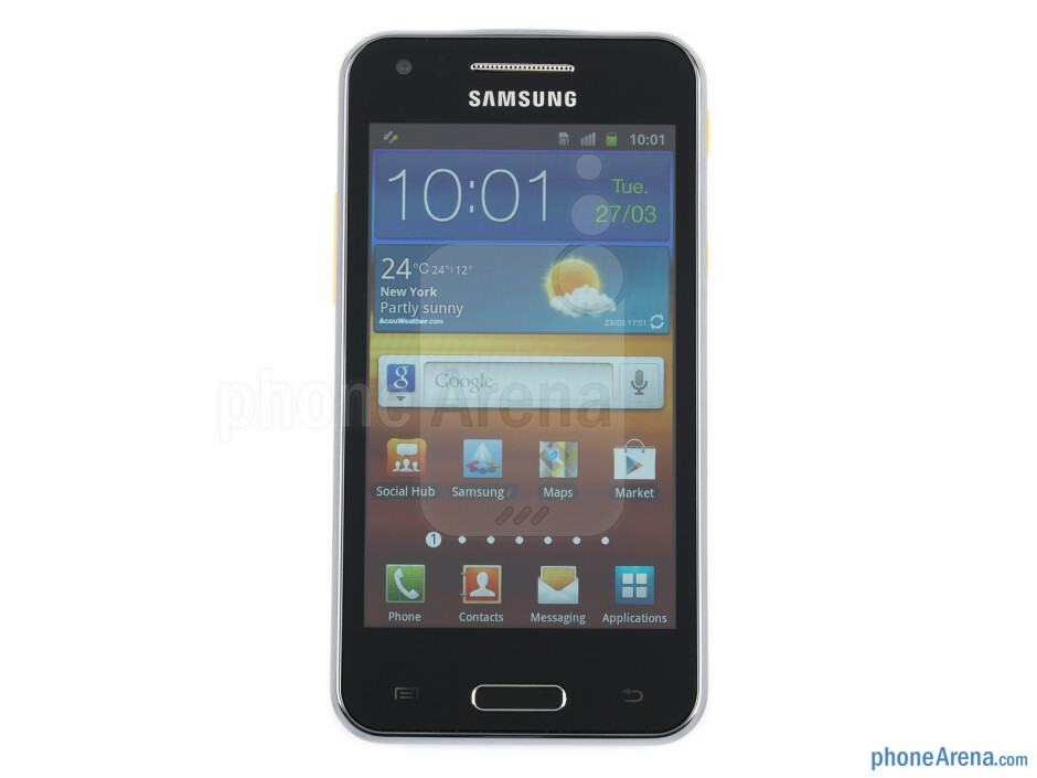 """The 4"""" LCD screen - Samsung Galaxy Beam Review"""
