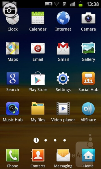The TouchWiz 4.0 interface - Samsung Galaxy Beam Review