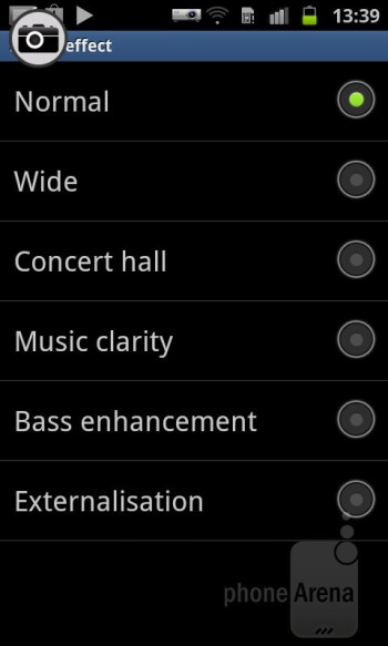 The tried-and-true TouchWiz music player is present on the Samsung Galaxy Beam - Samsung Galaxy Beam Review