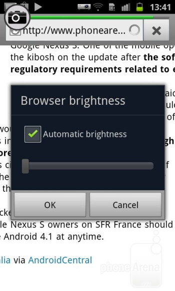 The default Android Gingerbread browser performs admirably on the Galaxy Beam - Samsung Galaxy Beam Review