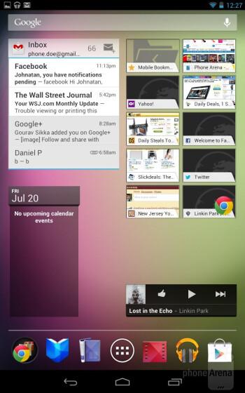 The Google Nexus 7 comes with Android 4.1 Jelly Bean - Google Nexus 7 vs Apple iPad 3