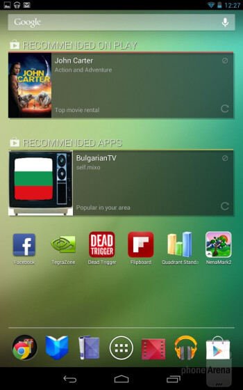 The Google Nexus 7 comes with Android 4.1 Jelly Bean - Google Nexus 7 Review