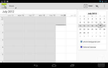 Core organizer apps of the Google Nexus 7 - Google Nexus 7 vs Apple iPad 3