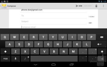 The virtual keyboard of the Google Nexus 7 - Google Nexus 7 vs Apple iPad 3