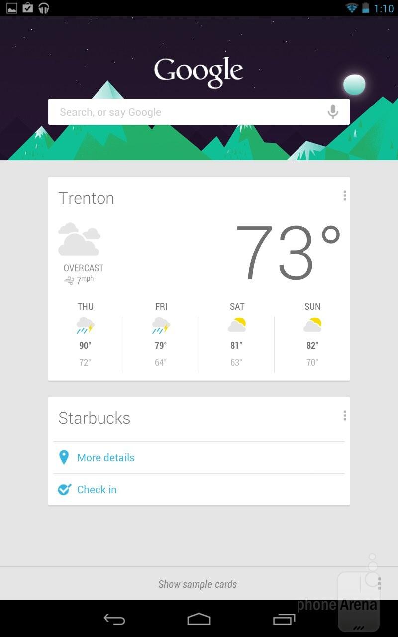 Google Now of Android 4.1 Jelly Bean - Google Nexus 7 vs Apple iPad 3