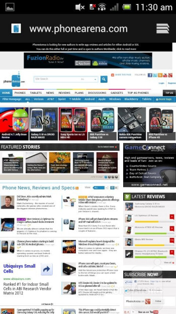Chrome browser - Sony Xperia neo L Review