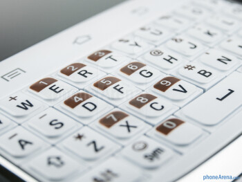 The QWERTY keyboard of the Samsung Galaxy Chat - Samsung Galaxy Chat Review