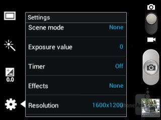 Camera interface - Samsung Galaxy Chat Review