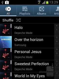 The TouchWiz music player - Samsung Galaxy Chat Review