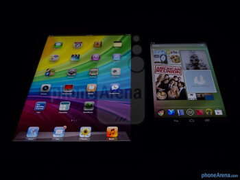 Viewing angles of the Google Nexus 7 (left) and the Apple iPad 3 (right) - Google Nexus 7 vs Apple iPad 3