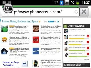 Web browsing on the Samsung Galaxy Y Pro Duos - Samsung Galaxy Y Pro Duos Review