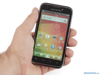The Alcatel OT-995 is comfortable to hold with the clean soft touch plastic back - Alcatel OT-995 Review