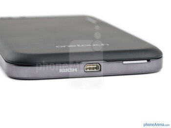 HDMI port (bottom) - The sides of the Alcatel OT-995 - Alcatel OT-995 Review