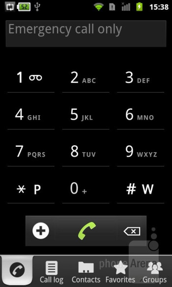 Phone book - Alcatel OT-995 Review