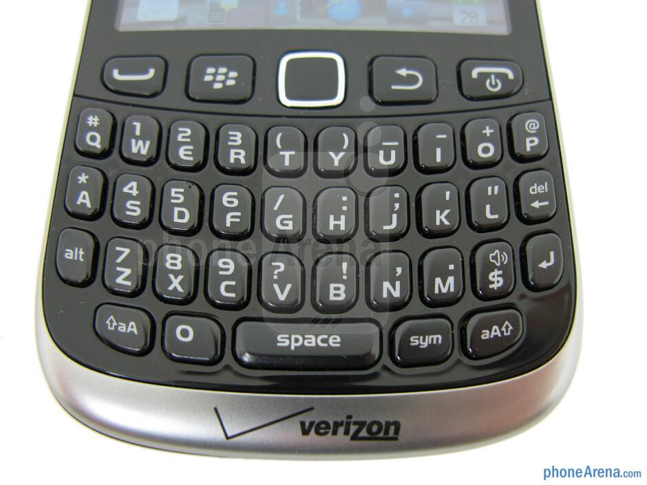 The QWERTY keypad - RIM BlackBerry Curve 3G 9310 Review