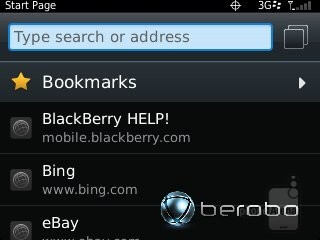 The web browser of the RIM BlackBerry Curve 9310 - RIM BlackBerry Curve 3G 9310 Review
