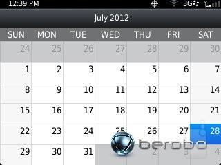 Calendar - RIM BlackBerry Curve 3G 9310 Review