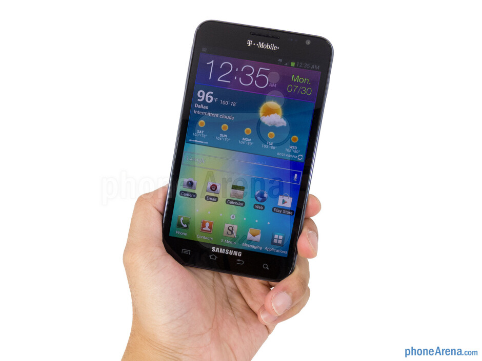 The T-Mobile Samsung Galaxy Noteis still one unwieldy thing to handle with one hand - T-Mobile Samsung Galaxy Note Review