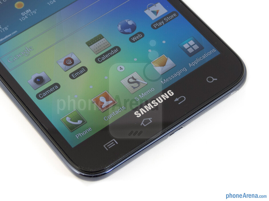 Android buttons - T-Mobile Samsung Galaxy Note Review