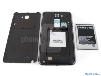 Battery compartment - T-Mobile Samsung Galaxy Note Review
