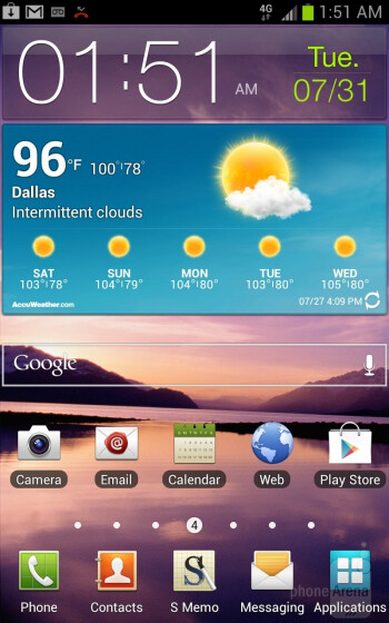 The T-Mobile Samsung Galaxy Note is graced with the updated Android 4.0.4 Ice Cream Sandwich experience  - T-Mobile Samsung Galaxy Note Review