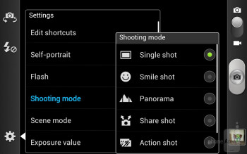 Camera interface - T-Mobile Samsung Galaxy Note Review