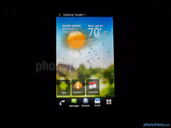 Viewing angles of the T-Mobile myTouch - T-Mobile myTouch Review