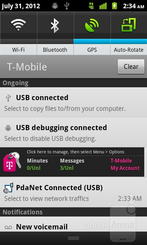 The T-Mobile myTouch is running Android 2.3.6 Gingerbread - T-Mobile myTouch Review