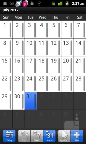 Calendar - T-Mobile myTouch Review