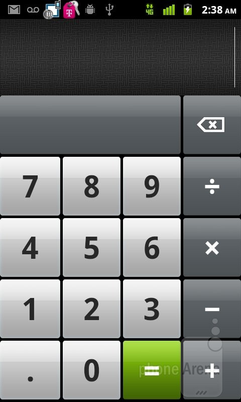 Calculator - T-Mobile myTouch Review