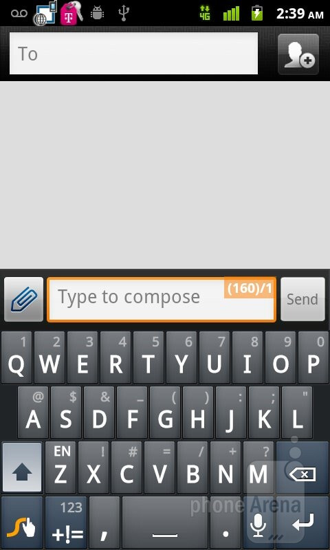On-screen keyboard - T-Mobile myTouch Review