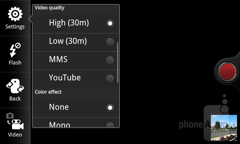 Camera interface - T-Mobile myTouch Review