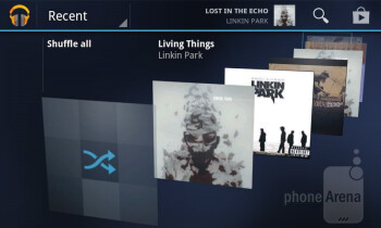 The music player of the T-Mobile myTouch - T-Mobile myTouch Review