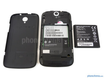 Battery compartment - The sides of the T-Mobile myTouch Q - T-Mobile myTouch Q Review