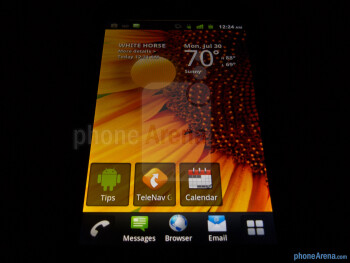 Viewing angles of the T-Mobile myTouch Q - T-Mobile myTouch Q Review