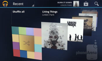 Music player - T-Mobile myTouch Q Review