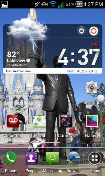 The interface of the Pantech Marauder - Pantech Marauder Review
