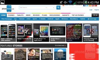 Web browsing with the Pantech Marauder - Pantech Marauder Review