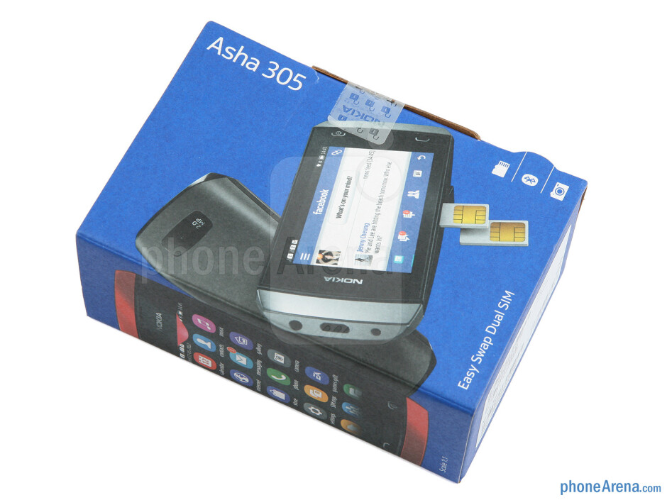 Box and contents - Nokia Asha 305 Review