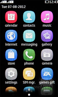 The interface of the Nokia Asha 305 - Nokia Asha 305 Review