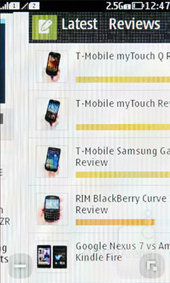 The browser of the Nokia Asha 305 loads pages slowly - Nokia Asha 305 Review